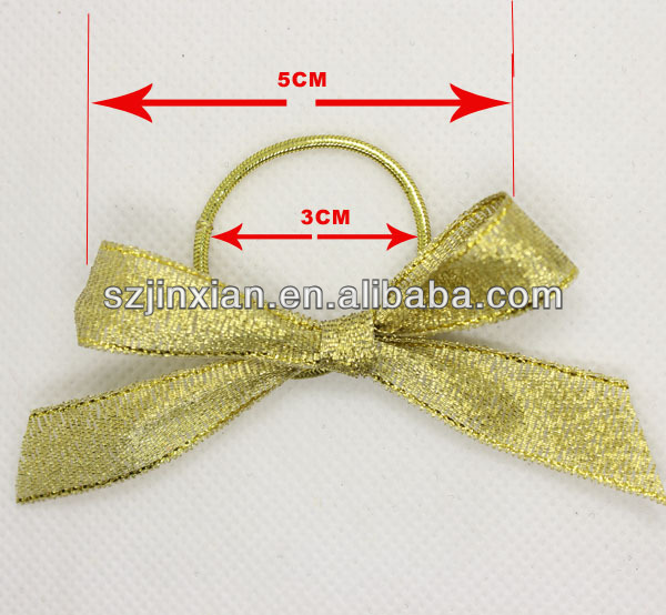 Knot Bow Elastic Ribbon Bow/Ribbon Bow With Rubber Band