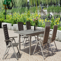 Aluminum Flame Poly Wood Dining Table
