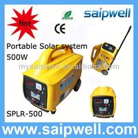 2013 new 500w portable mini projects solar power systems for home use