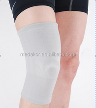 gray 4-way stretch spandex knee support