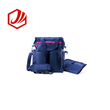 Waterproof Nylon Large Capacity Diaper Tote Bag With Shoulder Straps
