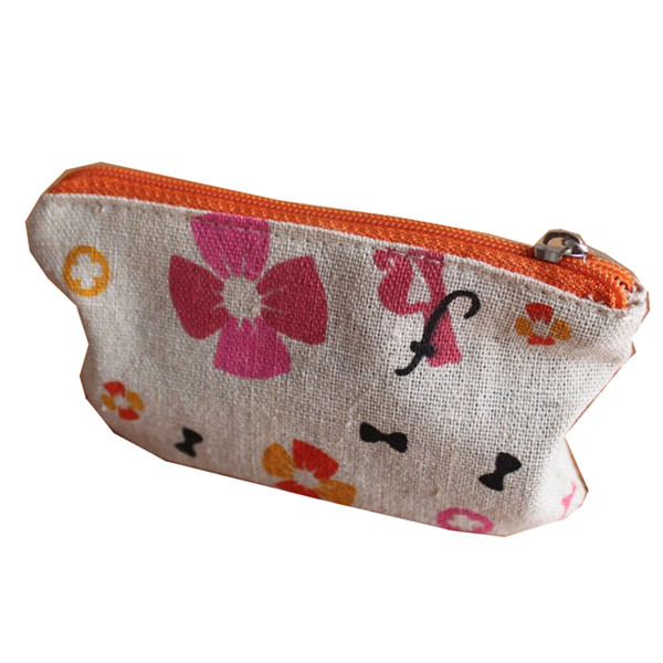 cotton bag with zip cosmetics pouch with zipper