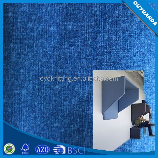 Warp Factory Polyester Clean Imitation Linen Upholstery Fabric for Office Soundproofing Phone booth