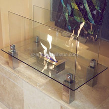 decorative true flame but non-toxic,pollution free warm intelligent ethanol fireplace with e-remote WIFI