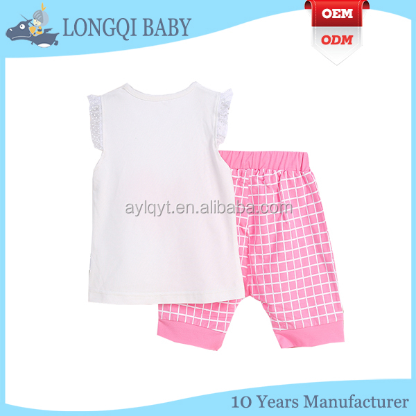 TZ-TN-012 custom summer short infant and toddler clothes sets