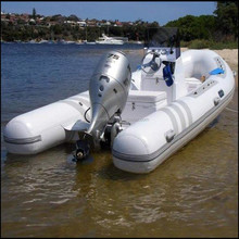 New fashion fiberglass motorboat inflatable rib for sale