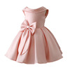 China Wholesale Factory Kids Girls Backless Western Party Wear Dress Patterns