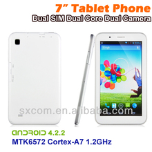 Dual Sim Card WCDMA/GSM/GPRS Phone call Dual Core CPU Tablet PC