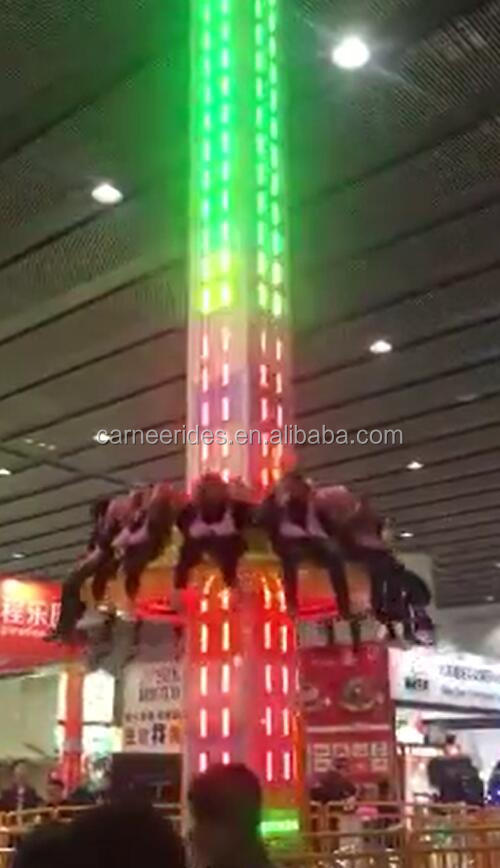 Outdoor Thrilling and Simulating adults carnival rides free fall jumping tower