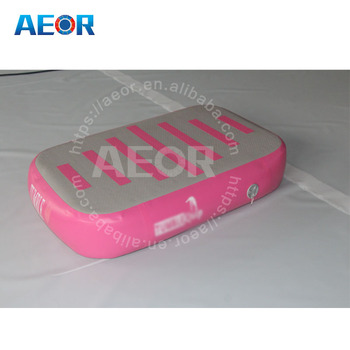 Pink air gymnastics mat air block for gymnastics/home edition yoga block air board for sale
