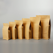 NEW DESIGN 1 kg Flat bottom Kraft paper coffee bag with zip lock