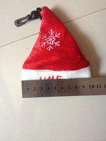 Customized 190T Polyester Christmas Hat shape Foldable Bag