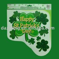 Window Cling / Sticker - St Patrick's Day Clover
