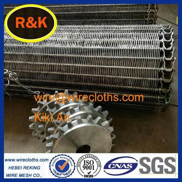 2016 HOT!!! stainless steel flat flex wire mesh conveyor belt