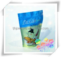 Laminated material stand up pouch/zipper plastic bag