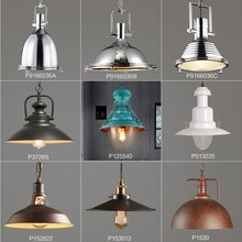 industrial new york loft pedant light lamp with metal shade