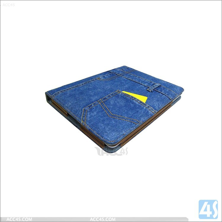 Fashion Antique Jean shap flip Leather case for ipad air 2