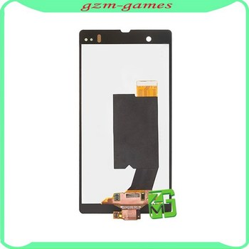 Black LCD touch screen digitizer assembly for Sony for Xperia Z L36h C6603 LT36