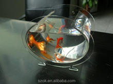 made in chna high quality oval acrylic aquarium