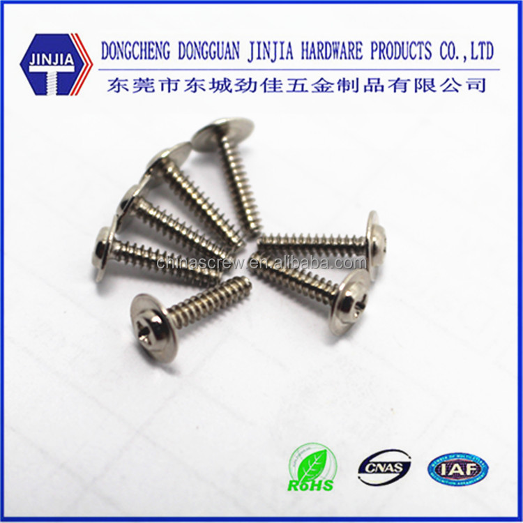 China factory Ni plated Self tapping screw flat tail 1.7X8mm screw