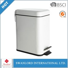 Bathroom stainless steel trash can / dustbin / foot pedal bin with inner bucket
