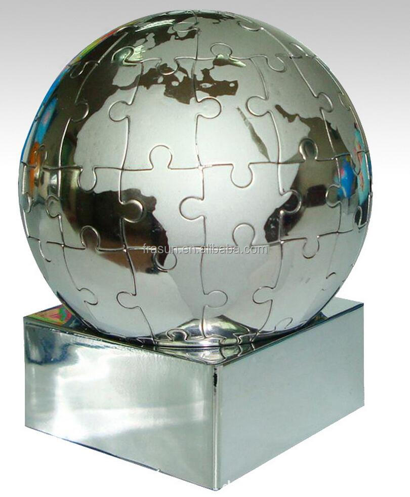Educational Use Metal Magnetic World Globe puzzle