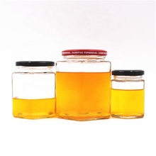 45ml 85ml 100ml 180ml 280ml 380ml 500ml 730ml polygon hexagon jam sauce pickles honey <strong>glass</strong> <strong>jar</strong> with metal lid