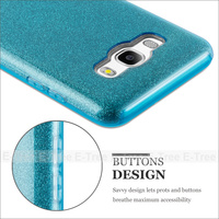 Glitter TPU PC Mobile Phone Case Back Cover For Samsung Galaxy J5 2016 J510