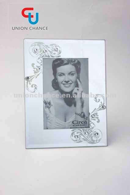 glass photo frame decorative photo frame with sexy picture