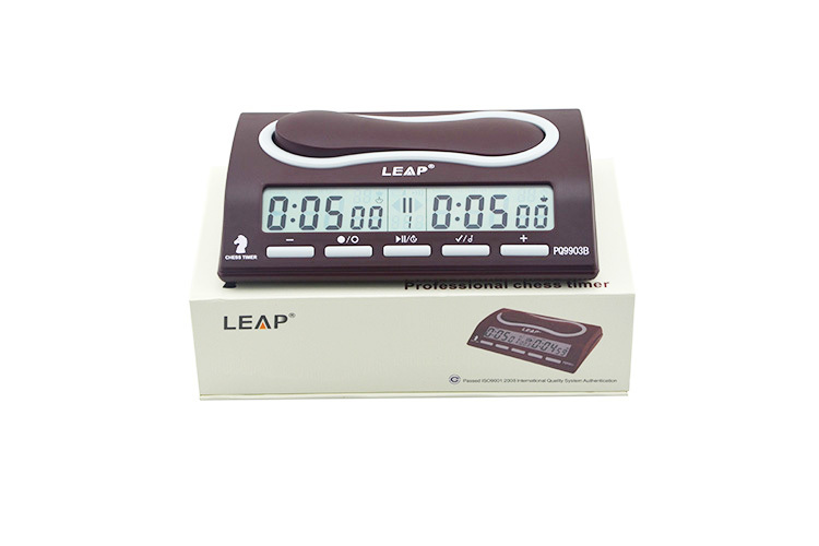 2015 New fast delivery LCD display brown chess clock timer