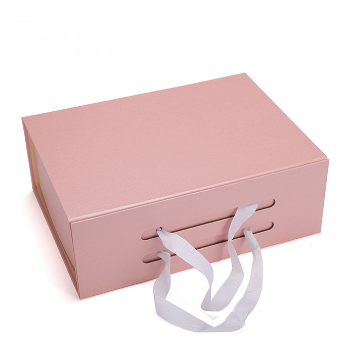 Custom gold hot stamping logo paper folding cosmetic packaging box wholesale