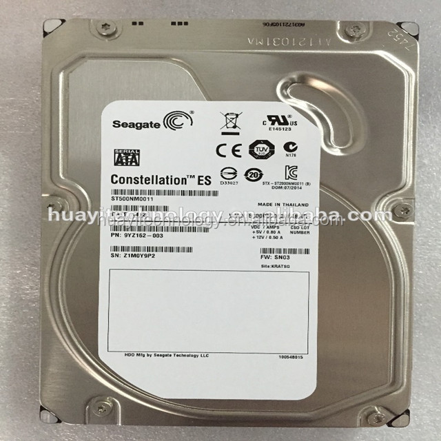 ST500NM0011 Seagate 500GB 7.2K 3.5 6G SP SATA Internal Server Hard Drive