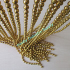 luxury gold color plated decorative ball chain curtain