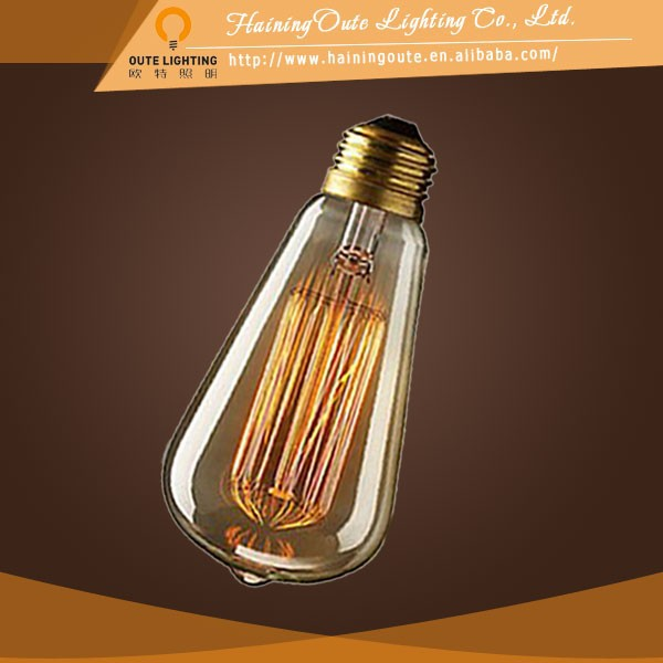 40 watt ST64 edison bulbs light glass pendant light