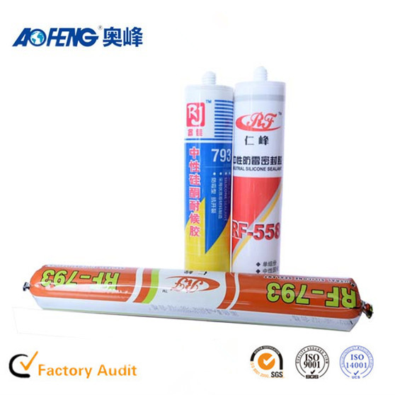 Factory Direct Supply OEM Non-toxic Glass Silicone Sealant Neutral Fireproof Silicone Adhesive for Metal