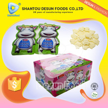 Cow shape sweet milk candy in bag