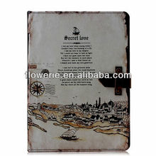 FL3362 2014 Guangzhou high quality retro bussiness style wallet leather flip case cover for ipad air