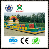 High quality GuangZhou factory cheap inflatable bouncer school playground equipment kids jumping stilts for sale QX-11098H