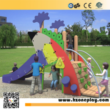 Kids' Outdoor or indoor small Wooden Playground with stainless steel slide