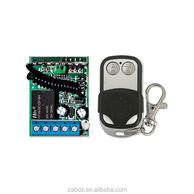 Universal factory cheap price metal shell remote control with 12V 1CH learning code transmitter and receiver (ZY1-2+ZK1PA)