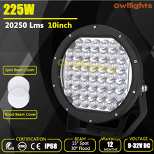 225w led trailer lights go karts 4x4 efficient practical auto parts round led work light 10 inch 18800lm 225w led driving light