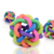 Best Selling rainbow color Squeaky funny Ball Dog chewing Toys with bell
