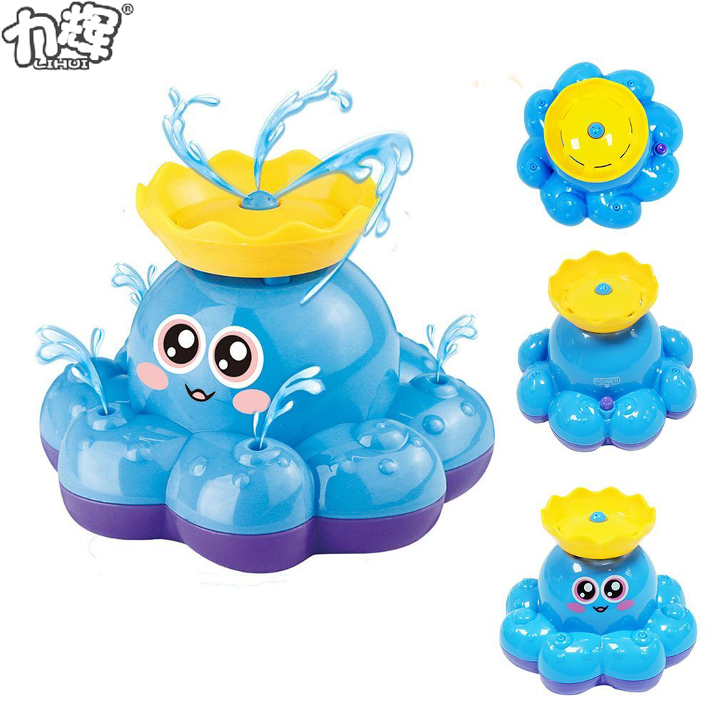 Spray Water Toy Octopus Unique Baby Bath Toys For 18 Months Old Boys