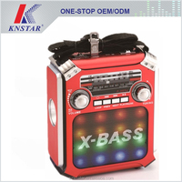 Good quality disco light FM speaker rechargeable torch light radio