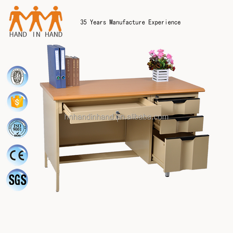 HANDINHAND OD-K1B knock down construction office desk Single Pedestal Steel Desk/Single Pedestal Steel workstation