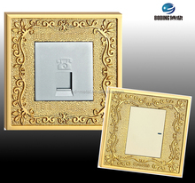 Decorative Wall Light Switches With Eu Standards For Luxury Hotel