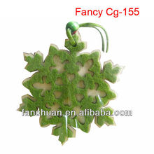 fashion hanging felt and wood snowflake decorations
