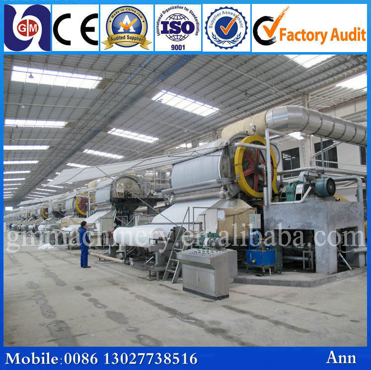 Financial Analysis of Pulp and Waste Paper Recycling Jumbo Roll Toilet Tissue Paper Roll Making Machine