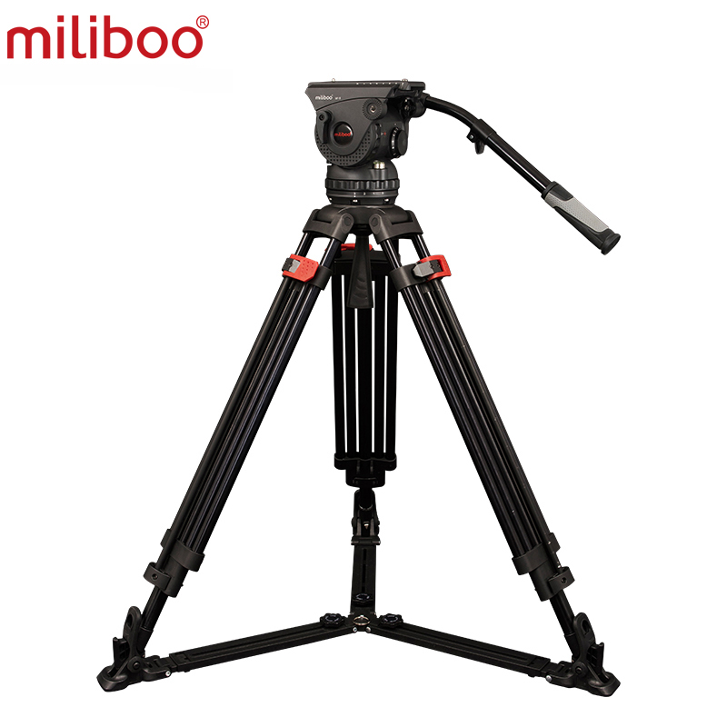 Professional Heavy Duty Aluminum M15DL Tripod Kit Twin Tubes and Max loading for Pro DV Video Camcorders