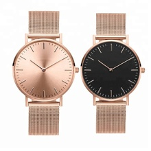 2018 custom your own brand lady watch women wrist watch with rose gold mesh strap